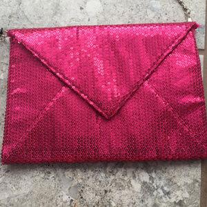 Sasha Sequin Envelope Clutch